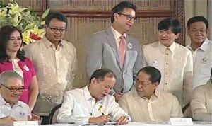 Pres. Aquino signing Enhanced Basic Education Act